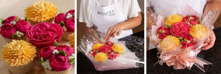 Bouquet Cakes - flower you can eat